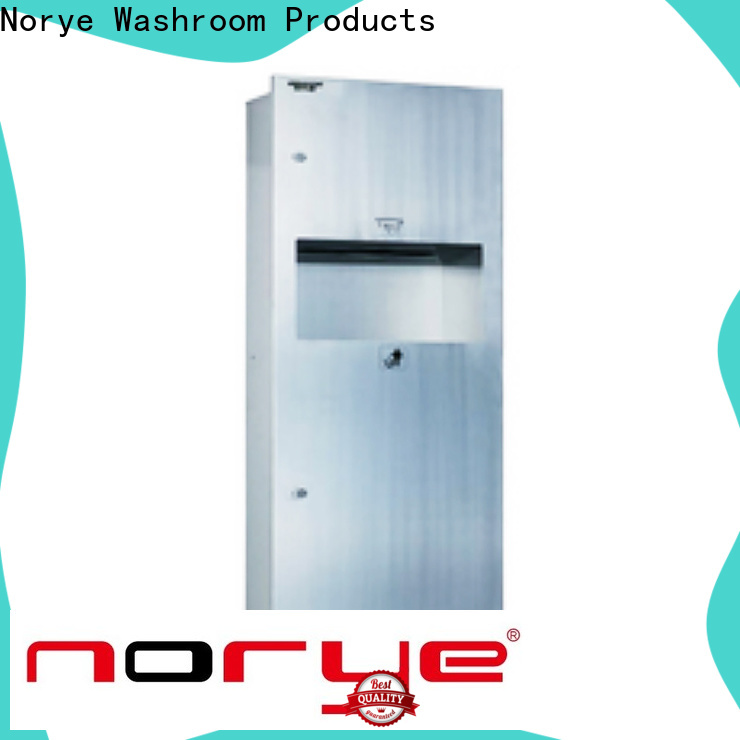 Norye multifunctional in wall paper towel dispenser and trash series for hotel