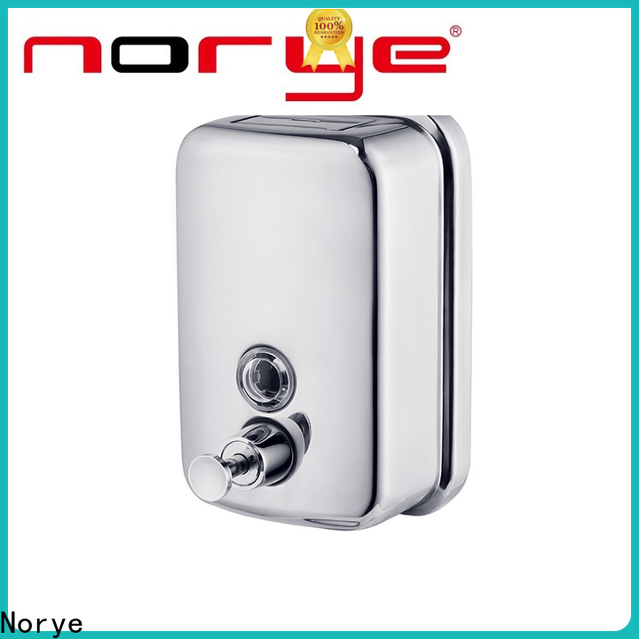 Norye liquid soap dispenser stainless steel factory direct supply for home use