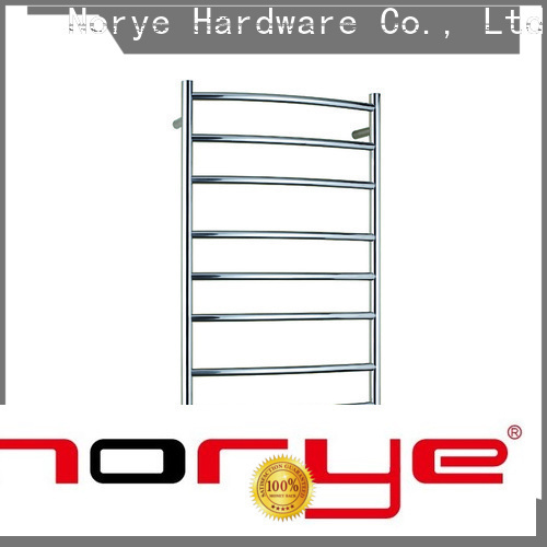 chrome curved electrical towel rail manufacturer for hotel