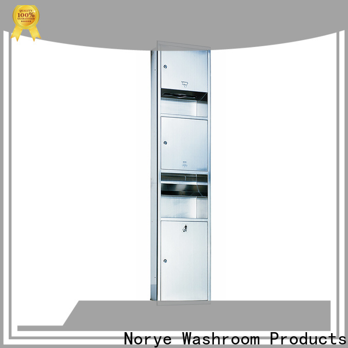 reliable recessed waste receptacle supply for washroom