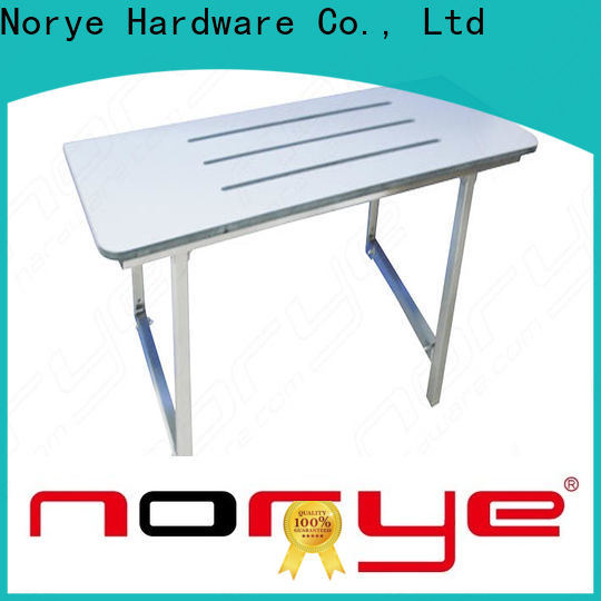 Norye oem shower seat wall mounted with cushion pad for residential