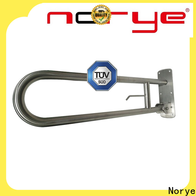Norye worldwide stainless steel grab handles disabled with soap dish for bathroom