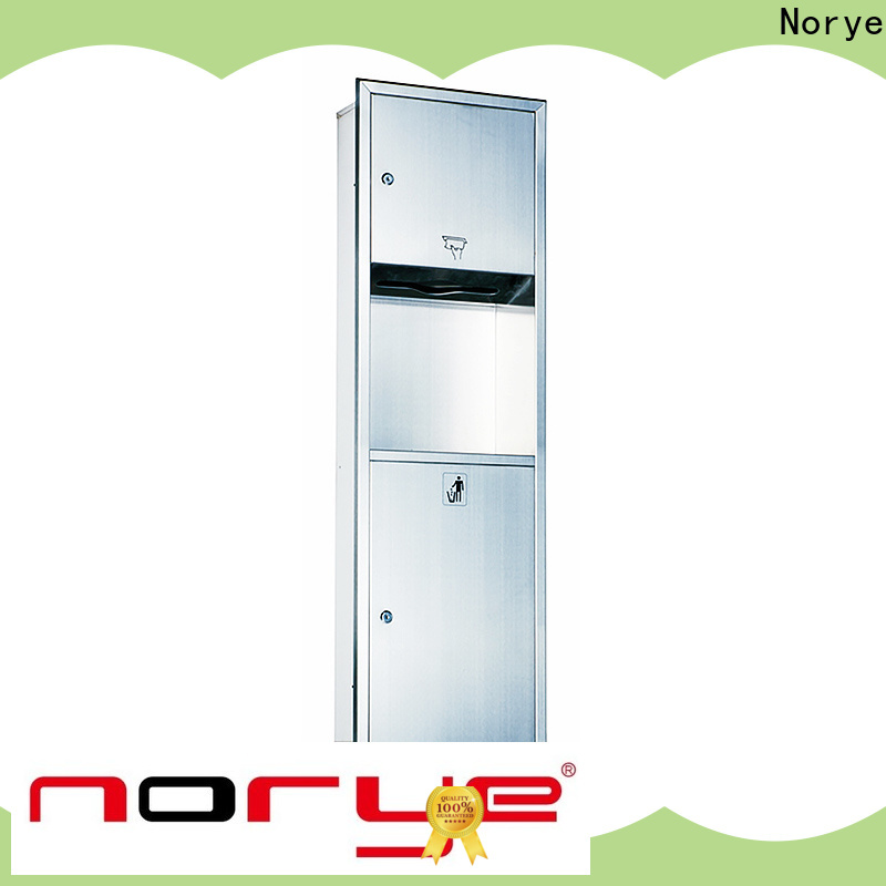 Norye cost-effective paper towel dispenser with waste receptacle from China for lavatory