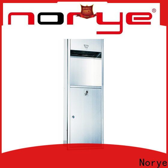 Norye factory price recessed paper towel dispenser and waste receptacle series for home