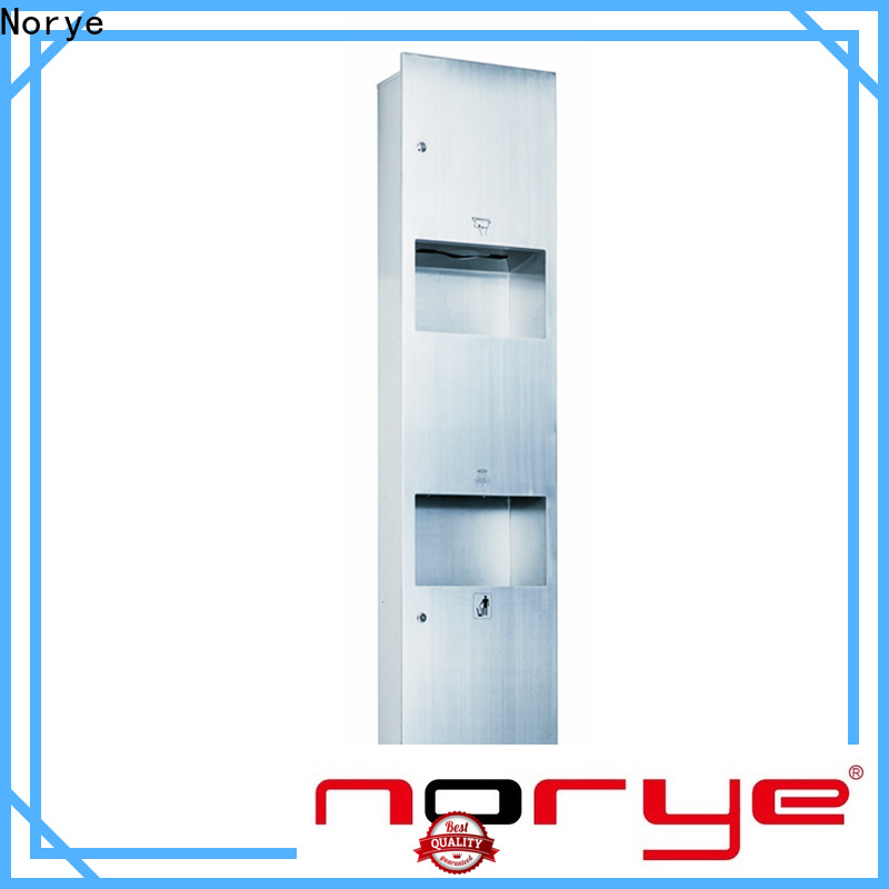 Norye in wall paper towel dispenser and trash factory for washroom