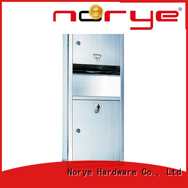 Norye recessed paper towel dispenser and waste receptacle supply for home