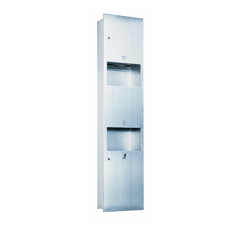 Stainless Paper dispenser with Waste Bin and Hand Dryer Combination HA01-01