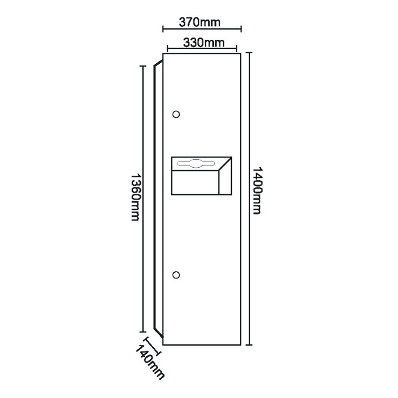 top selling semi recessed waste receptacle company for washroom-1