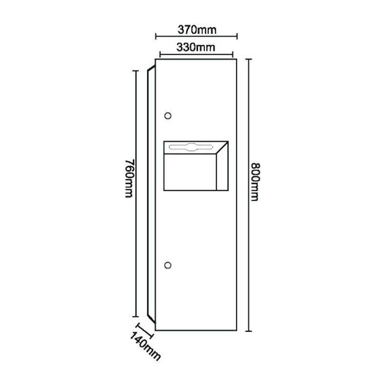 Norye surface mounted waste receptacle factory direct supply for hotel-1