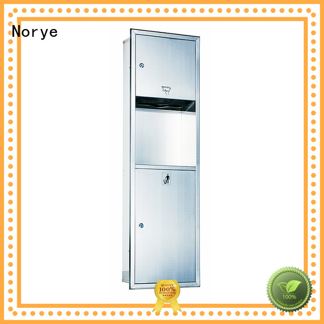 Norye no-touch operation semi recessed paper towel dispenser for hotel