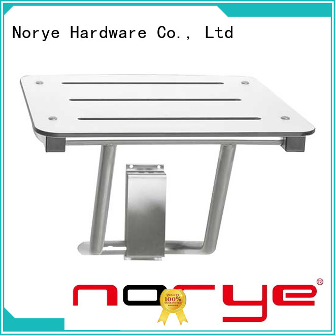 Norye fold-down stainless steel folding shower seat suppliers for bathroom