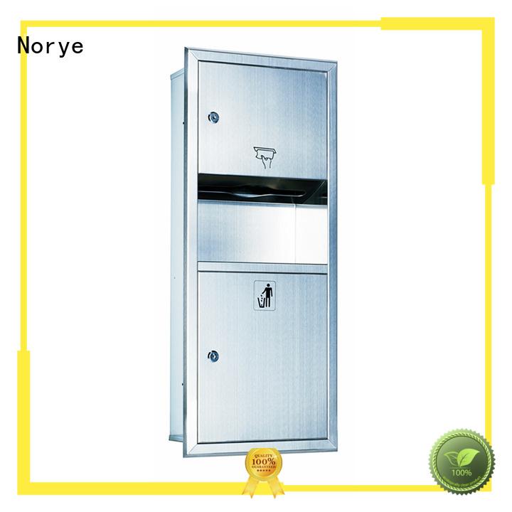 Norye durable semi recessed paper towel dispenser for washroom