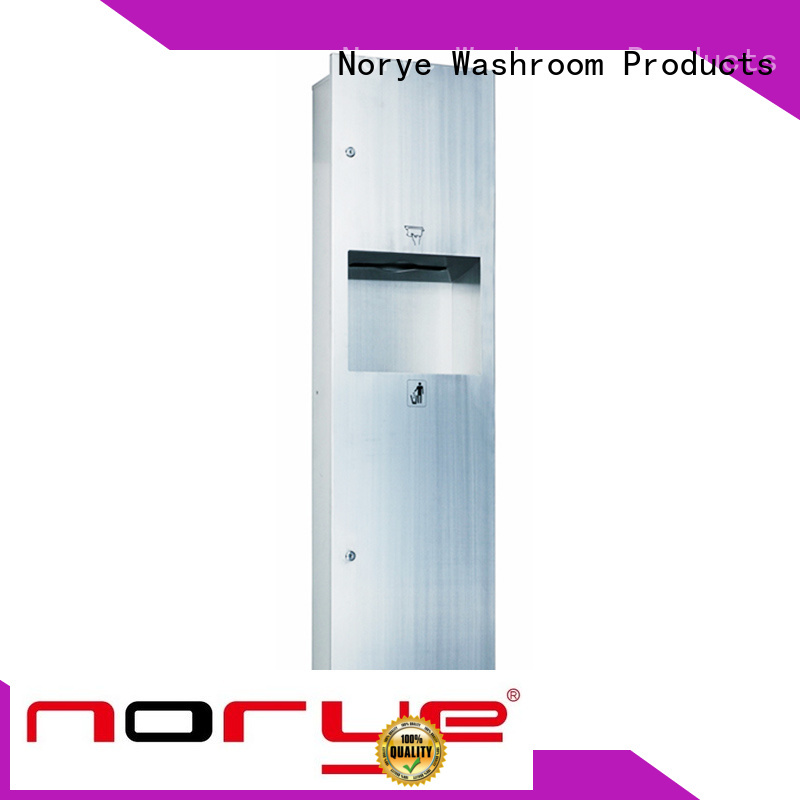 Norye recessed paper towel dispenser waste receptacle factory direct supply for washroom