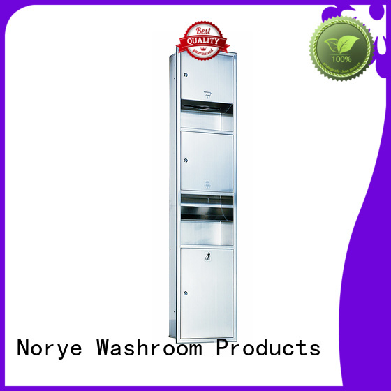 with hand dryer washroom paper towel dispenser no-touch operation for hotel Norye