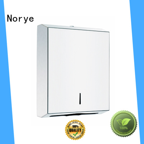 spot welding connection paper towel dispenser metal satin for hotel Norye