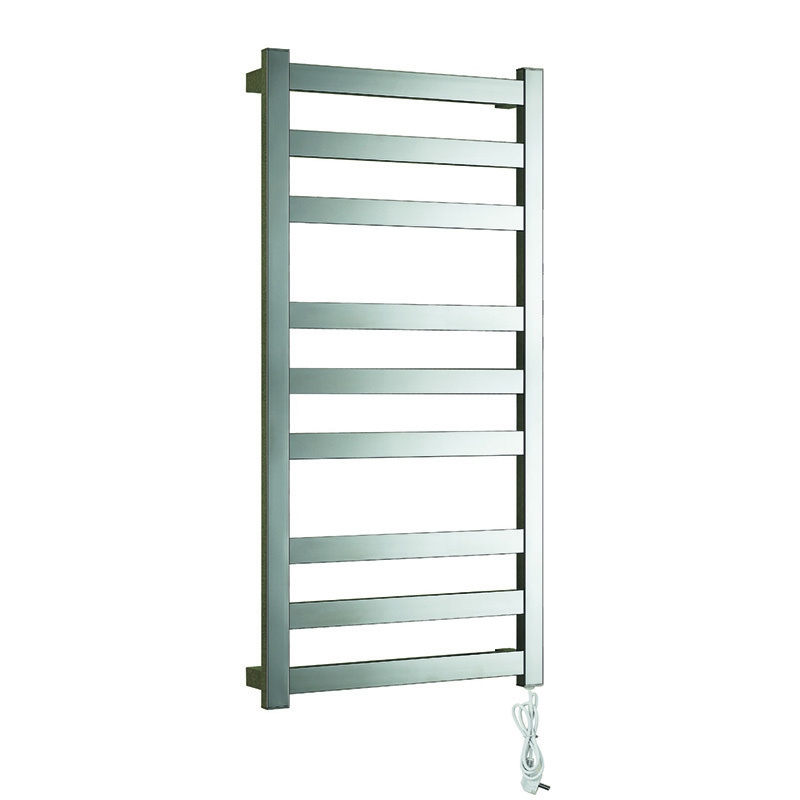 Wall Mounted Heated Towel Warmer & Drying Rack, 9 Bars & Stainless Steel Frame LS09