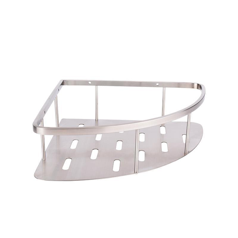 Stainless Steel Shower Basket Bathroom Wire Storage Corner Basket JC04