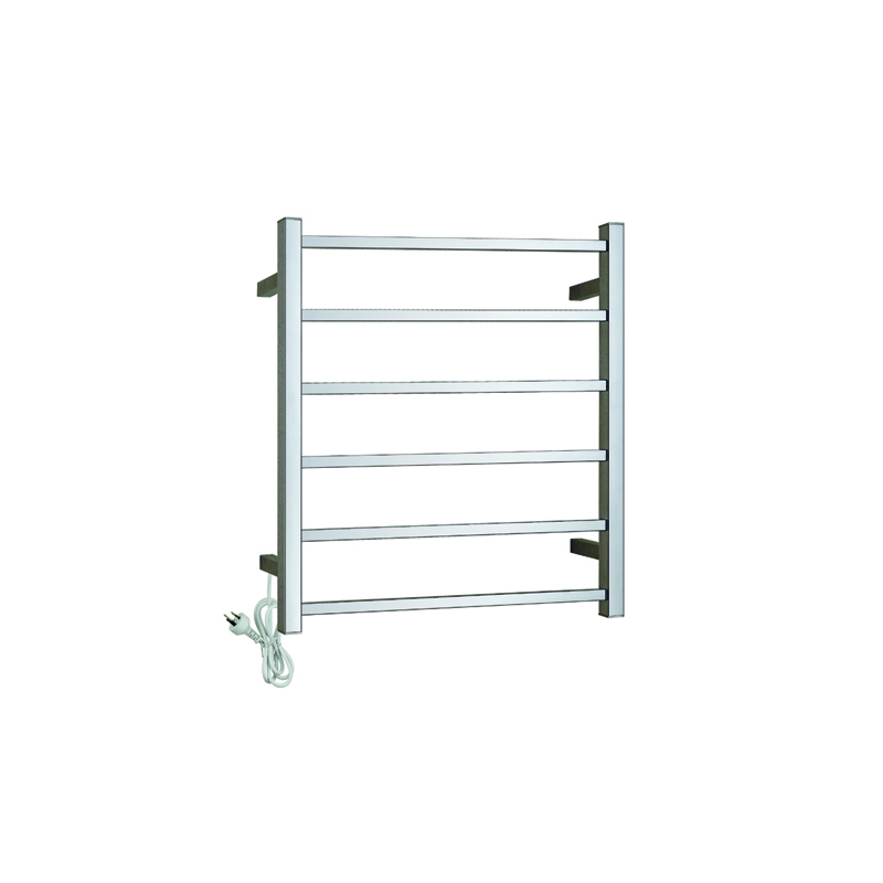 Electric Heated Towel Rack Wall Mounted Style Towel Warmer Rails 304 Stainless Steel CS06-01/02