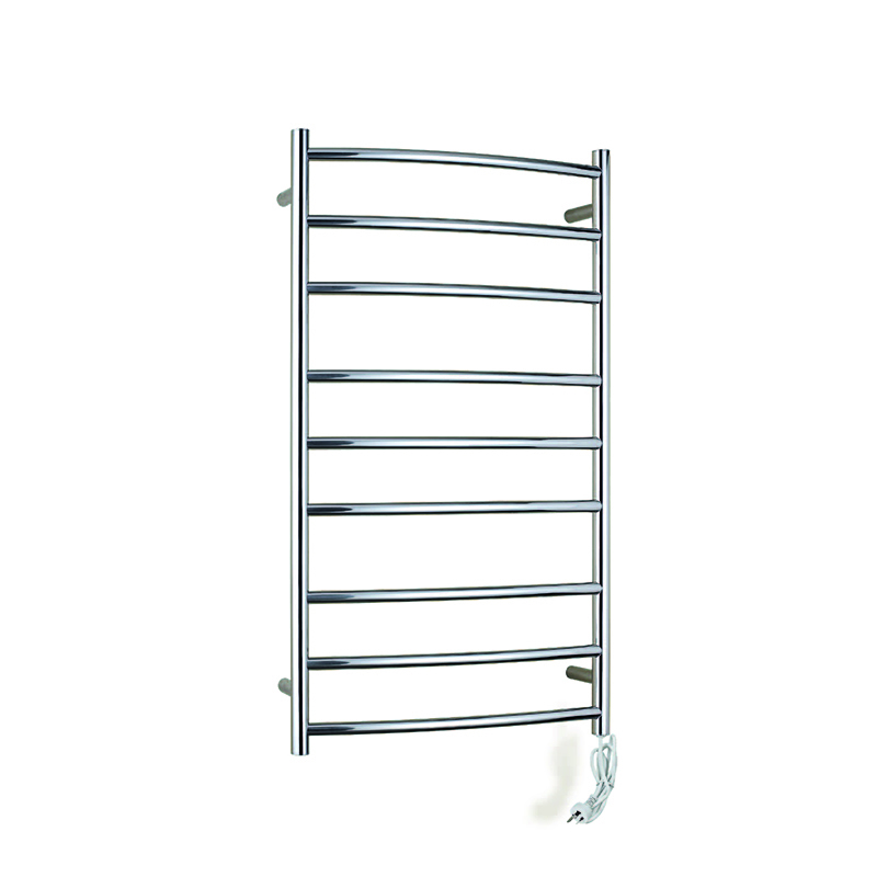 10 Bar Wall Mount Curved Electric Towel Warmer CR09-01/02C