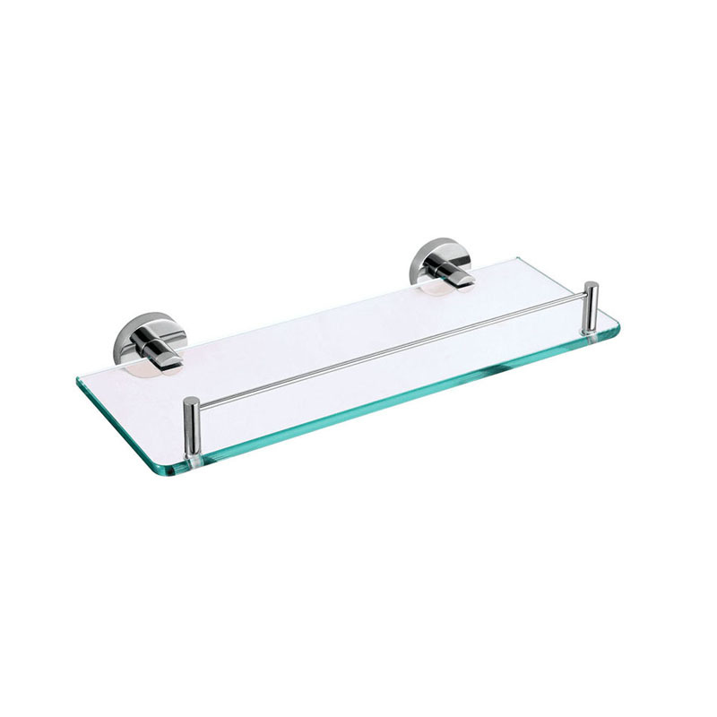 Glass Bathroom Wall Shelves with Towel Bar in Stainless JA03