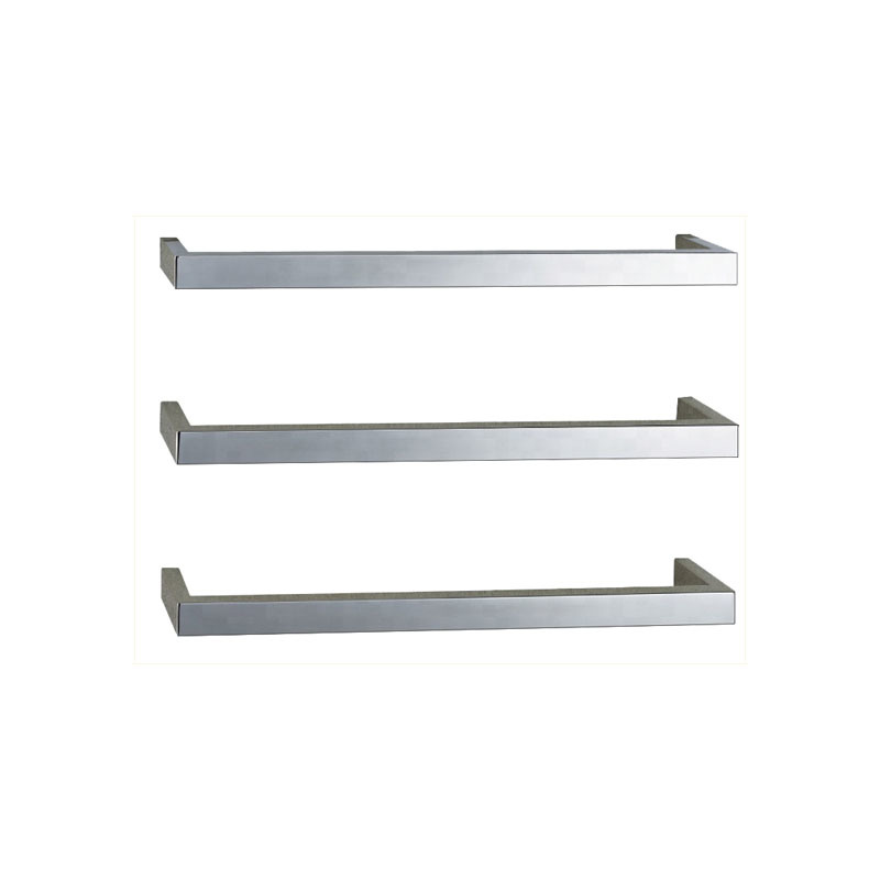 Stainless Steel Single Bar Heated Towel Rail Square Tube D-LS01-02