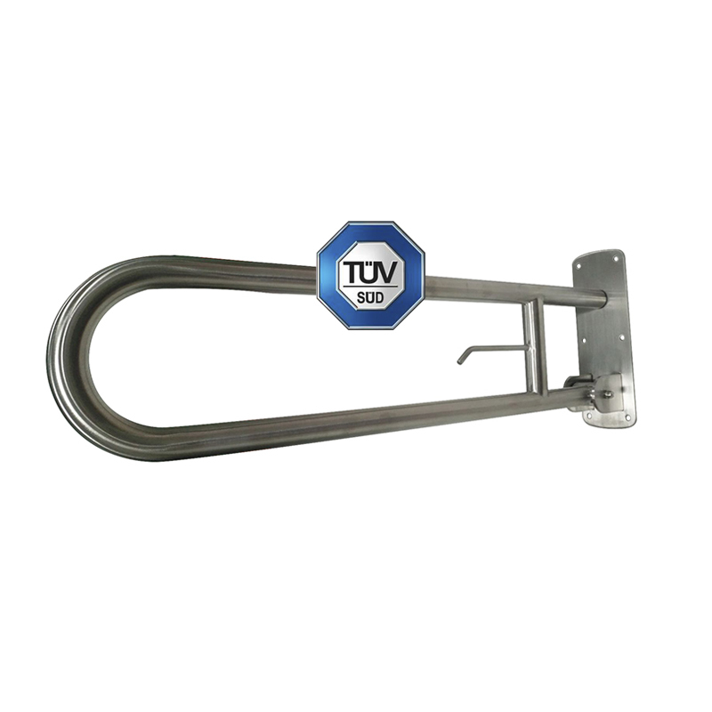 TUV Approved  Three Positions Stainless Steel Swing Up Grab Bar