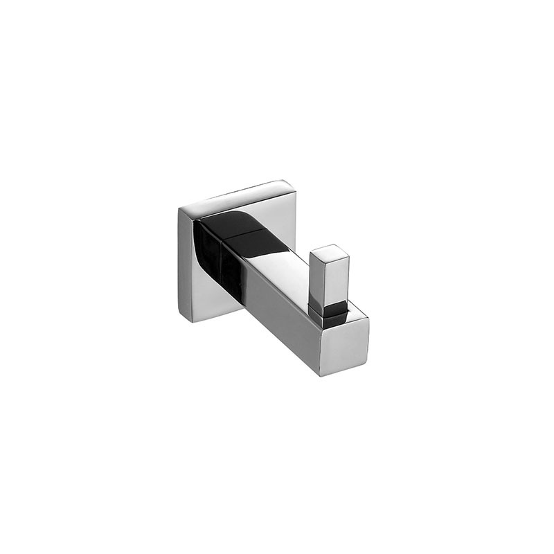Stainless Steel Wall Mounted Bathroom Single Hook with Square Base JD10