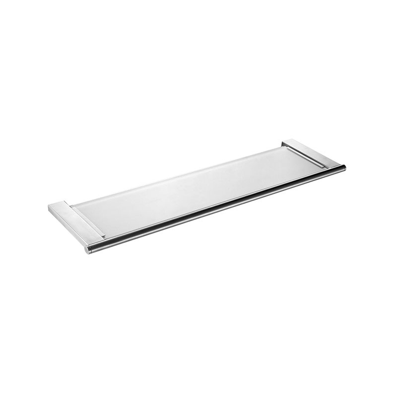 Stainless Steel Bathroom Wall Mounted Glass Shelf JE03
