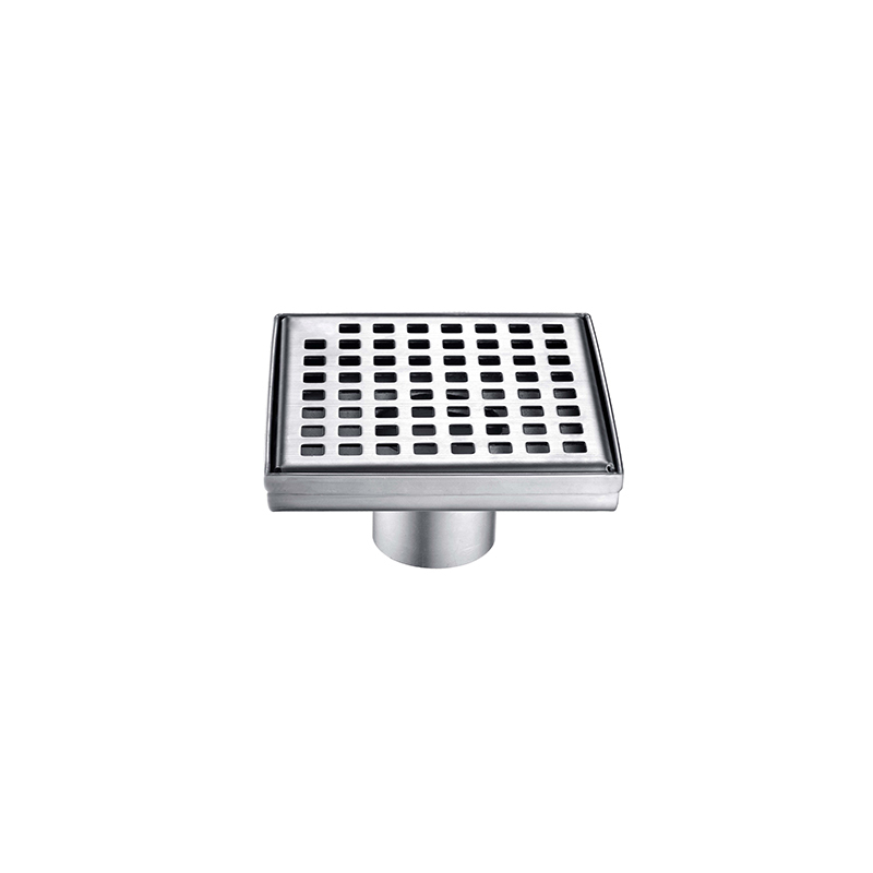 Stainless Steel 304 Shower Floor Drain for Bathroom,Square Pattern Grate ZLB-01-05