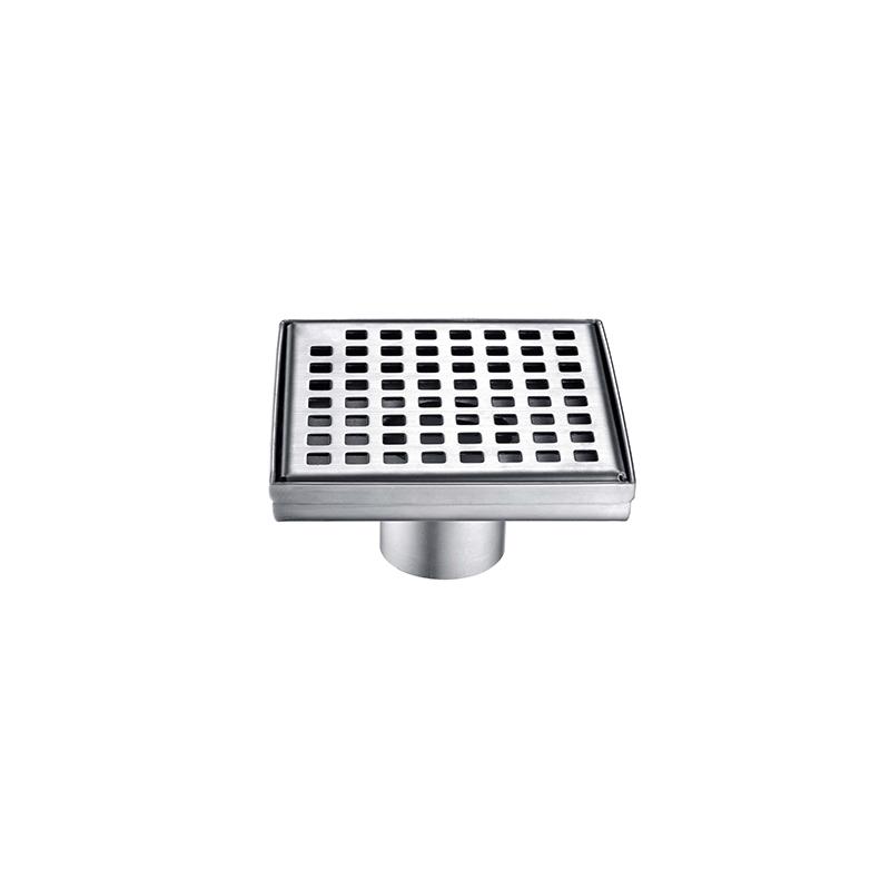 Stainless Steel 304 Shower Floor Drain for Bathroom,Square Pattern Grate ZLB-01-05