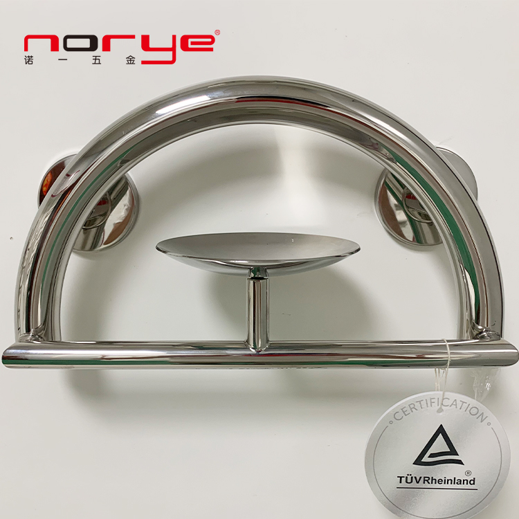 Norye Bathroom Accessories Grab bar with soap dish stainless Steel 304 OEM PG006