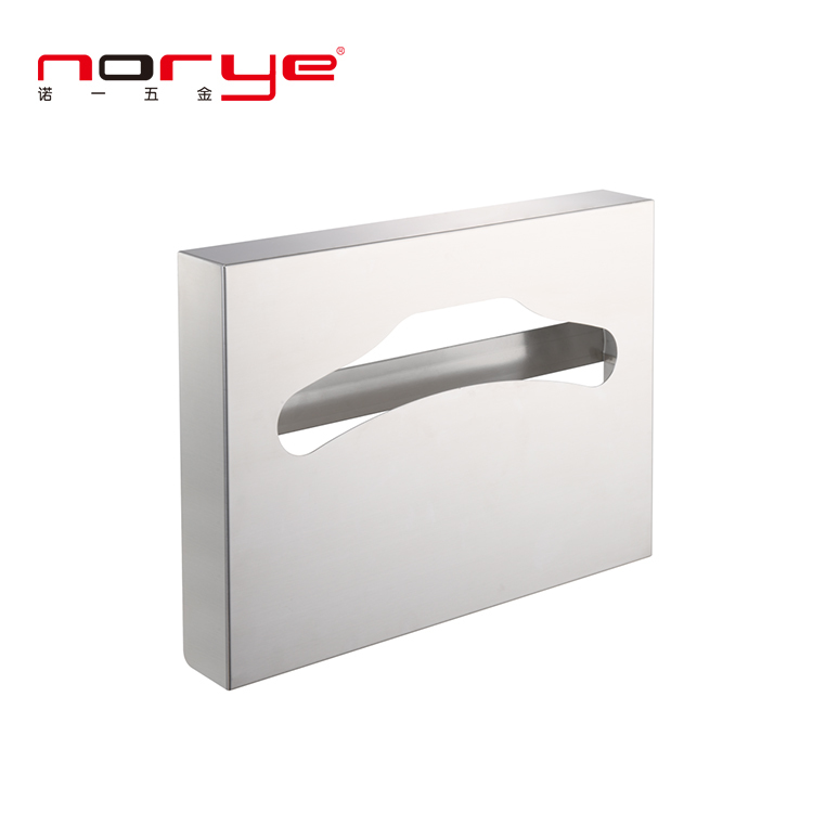 Professional Fold Toilet Seat Cover Paper Holder Dispenser 304 Stainless Steel Bathroom Paper NA01