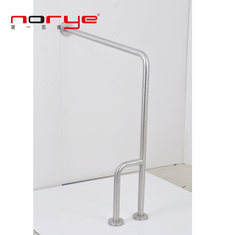 Straight 304 stainless steel safety grab bar disable grab rails Floor mounted YG11