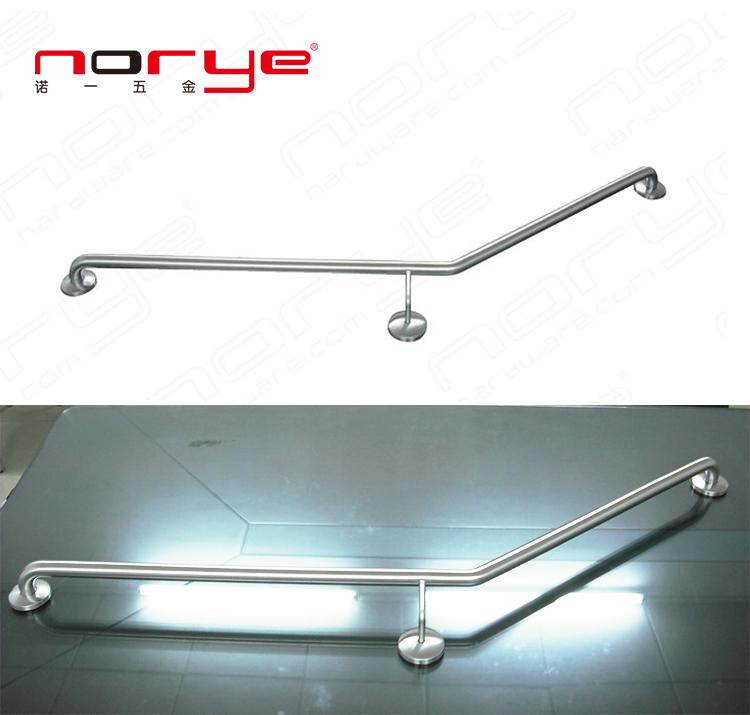Good Quality Shower Handicap Grab Bar disabled L shape stainless steel YG07