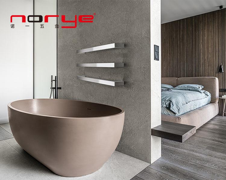 Factory Direct Single bar towel warmer Electric Heated Towel Rail Wall Mounted Bathroom Dryer Rack