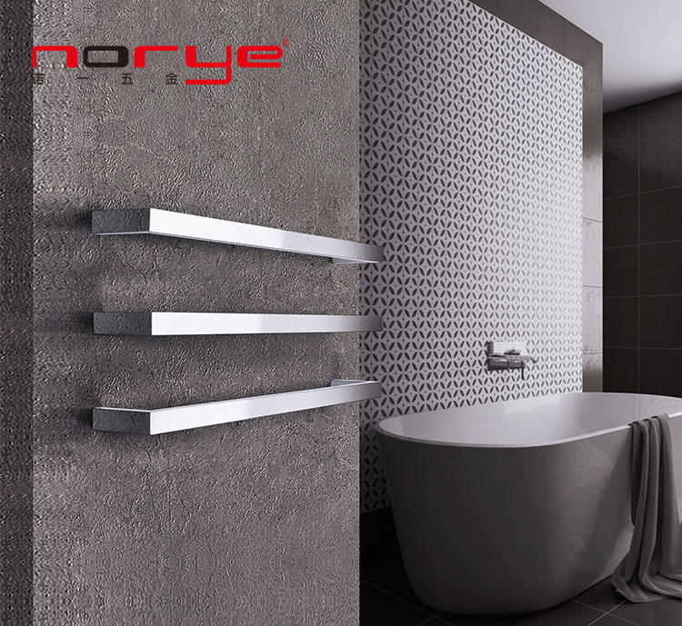 Single Square Bar Heated towel rack Stainless Steel Towel Rail Radiator Rack