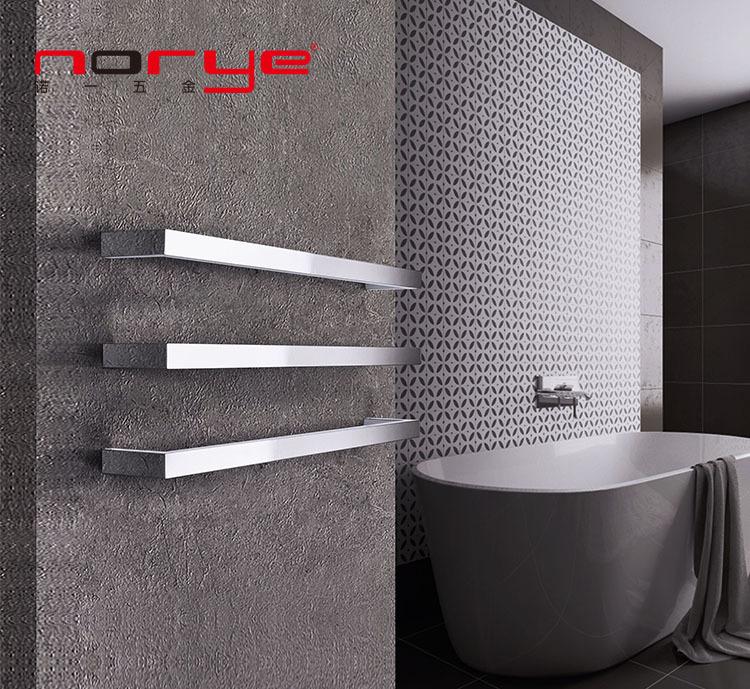 Single Square Bar Heated towel rack Stainless Steel Towel Rail Radiator Rack
