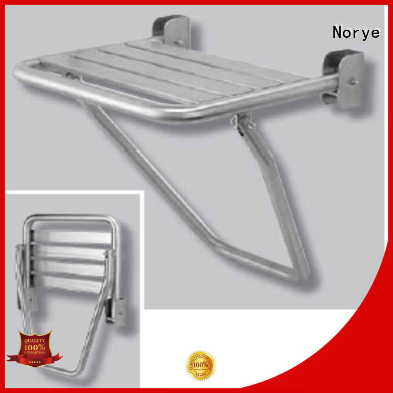 stainless steel folding bath seat with cushion pad for bathroom Norye