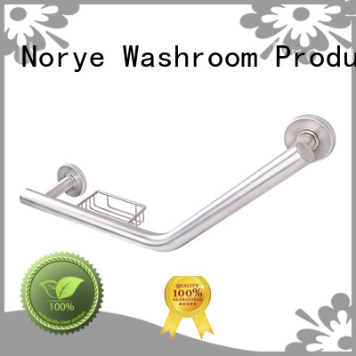 stainless steel grab bar toilet white coated for hotel Norye