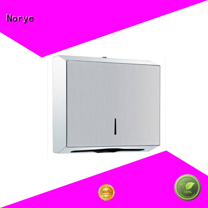 Norye solid stainless paper towel dispenser for kitchen