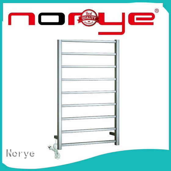 latest electric heated towel rail with thermostat factory direct supply for hotel