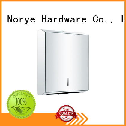 Norye satin stainless steel paper towel dispenser design for bathroom