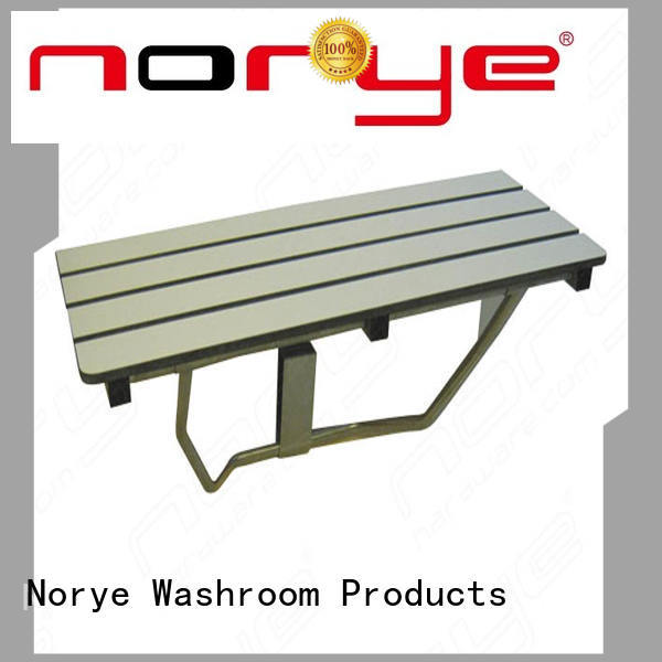 Norye practical stainless steel shower bench with cushion pad for disabled people