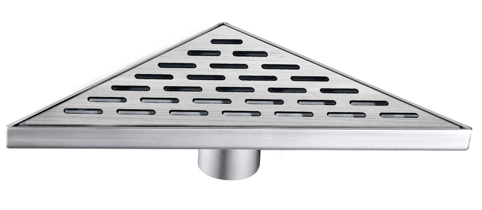 Norye white coated finish trough drain design for bathroom-1