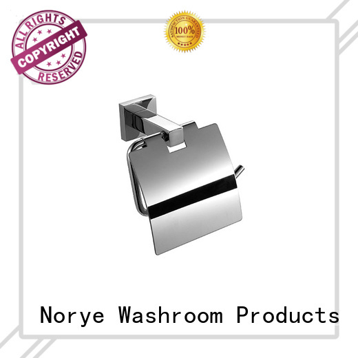 wall mounted stainless towel rack with square base for hotel