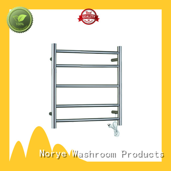 square tube heated towel shelf supplier for bathroom Norye