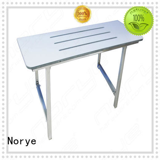Norye white coated finish bathroom seat for disabled factory direct supply for disabled people