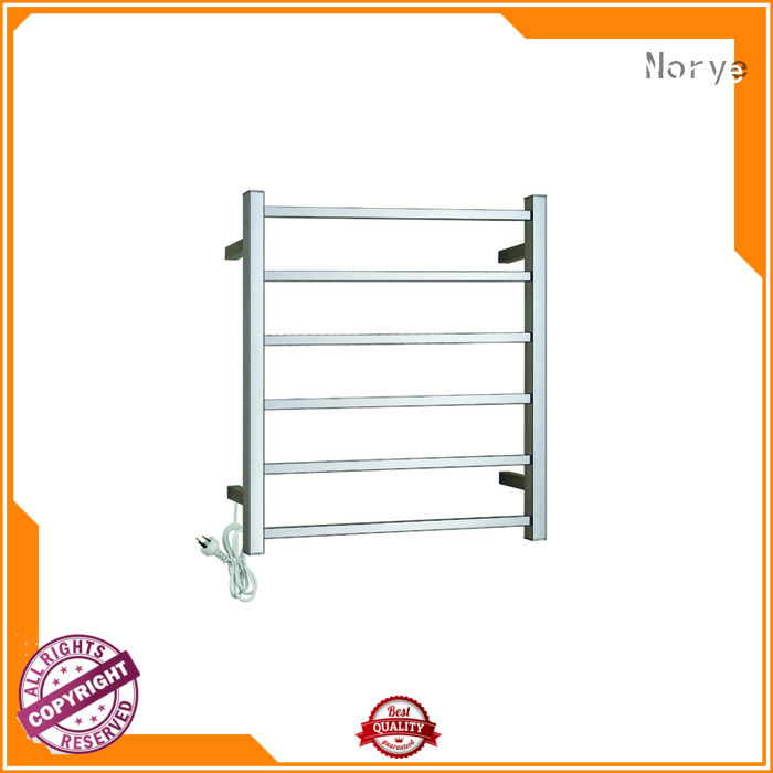 square tube towel bar warmer chrome curved for home Norye