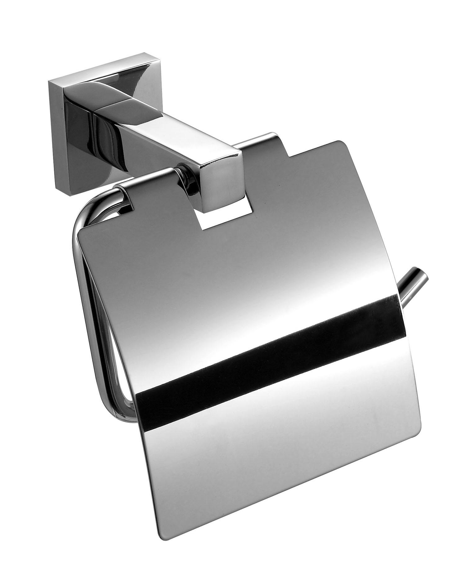 wall mounted stainless towel rack with square base for hotel-1