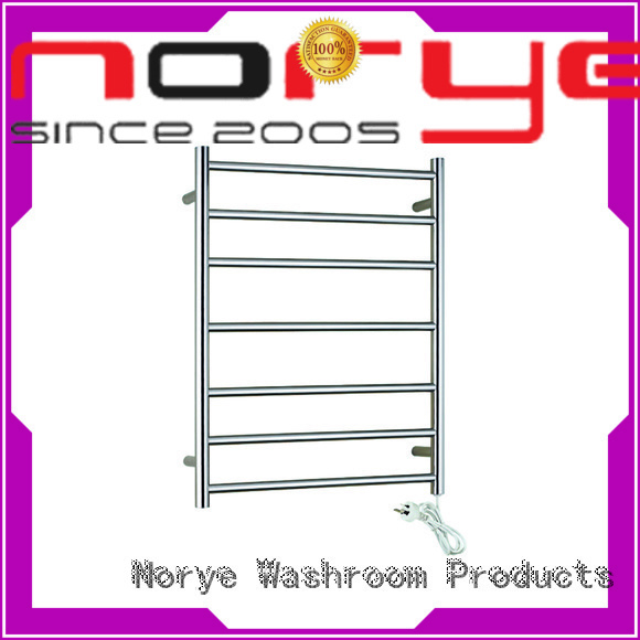 heated towel drying rack bright polished for bathroom Norye